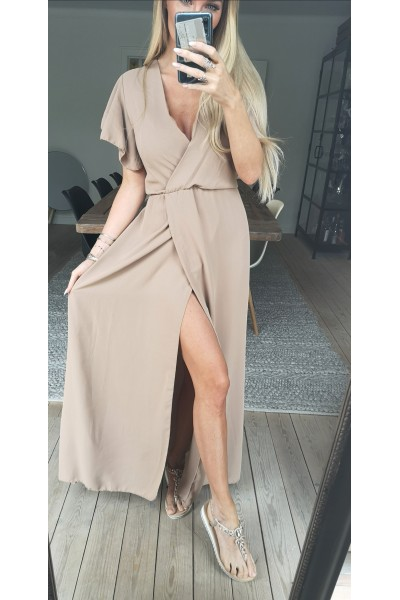 Cilla Long Dress - Beige
