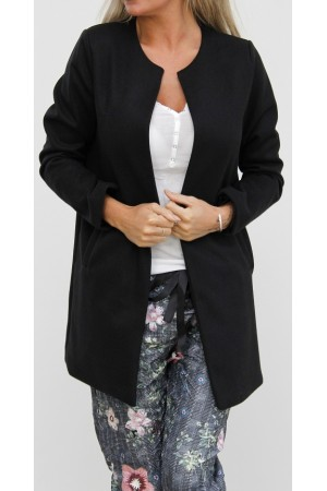Kissa Long Jacket - Black