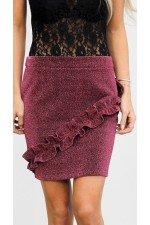 Alpa Shine Skirt - Red