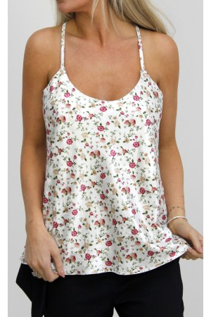 Liga Flower Top - White