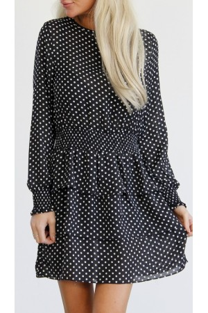 Tahlia Dot Dress - Black