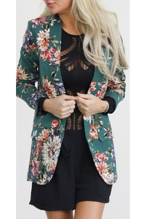 Pino Flower Blazer - Green