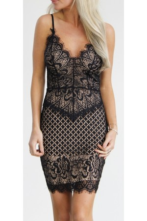 Lucy Lace Dress - Black