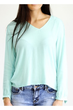 Joyce Lace Shirt - Mint