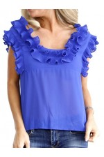 Neda Fine Top - Blue