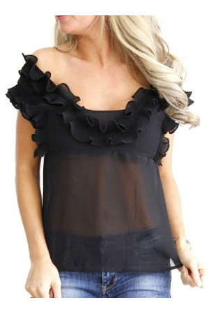 Neda Fine Top - Black