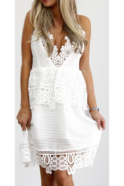 Seline Beauty Dress - White