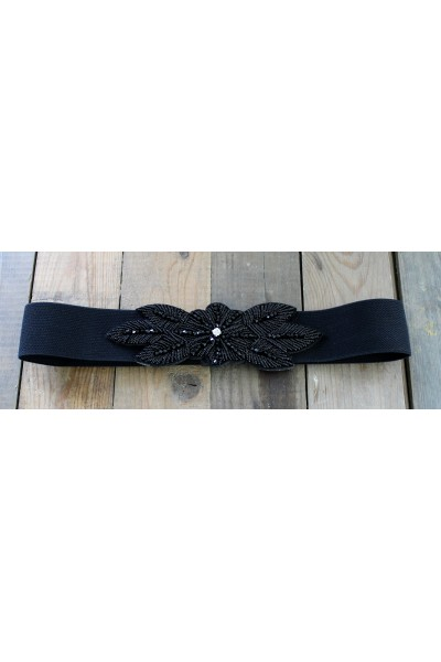Fiana Elastik Belt - Black
