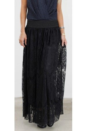 Cilla Long Skirt - Black