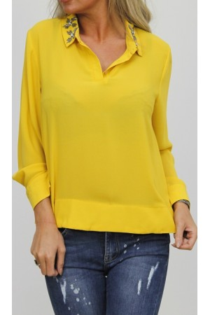 Ivana Fine Shirt - Yellow