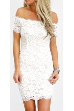 Melsa Lace Dress - White