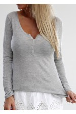 Tiona Basic Shirt - Light Grey