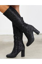 Viona Shine Boots - Black
