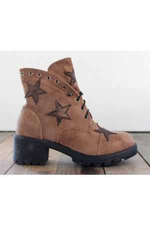 Mido Star Boots - Brown