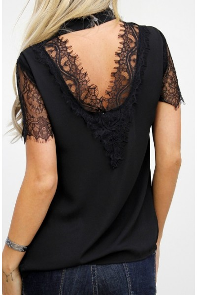 Letta Lace Shirt - Black