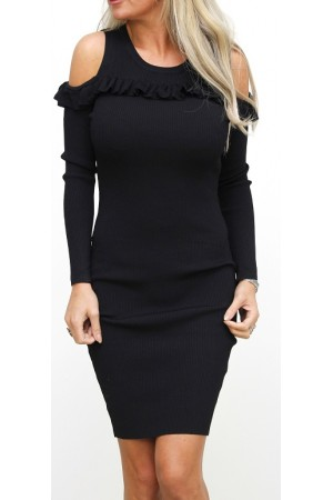 Lisea Soft Dress - Black