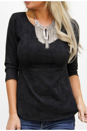 Amila Soft Shirt - Black