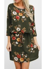 Wena Dress - Green Flower