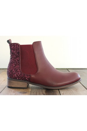 Willo Glimmer Boots - Bordeaux