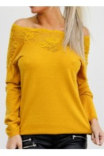 Virma Lace Knit - Curry
