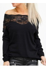 Virma Lace Knit - Black