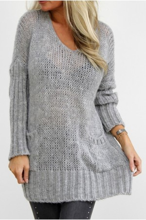 Natie Big Knit - Grey