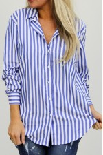 Pira Stripe Shirt - Blue