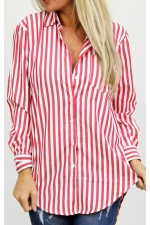 Pira Stripe Shirt - Red