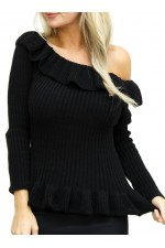 Frilla Knit - Black