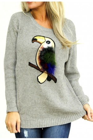 Birdy Knit - Grey