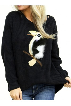 Birdy Knit - Black