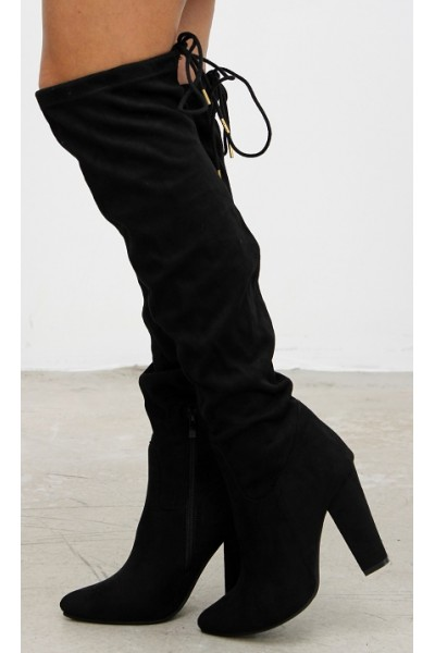 Miranda Long Boots - Black