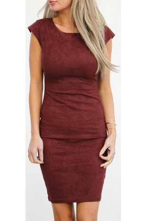 Loma Soft Dress - Bordeaux