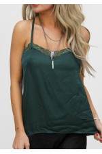 Fina Lace Top - Green