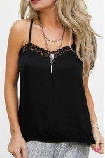 Fina Lace Top - Black