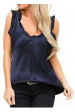 Ciana Shiny Top - Marine