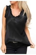Ciana Shiny Top - Black