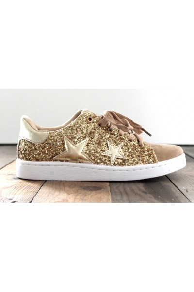 Misa Star Sneakers - Gold