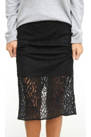 Limo Lace Skirt - Black