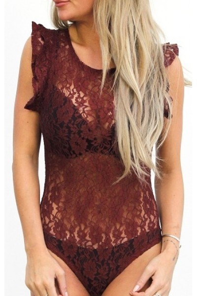 Misja Lace Body - Bordeaux