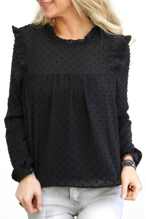 Shelly Dot Shirt - Black