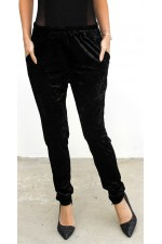 Loris Velour Pants - Black