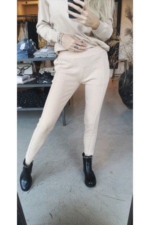 Julia Soft Knit Pants - Beige