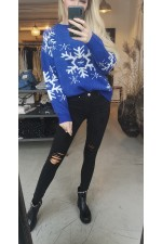 Christmas Knit - Blue