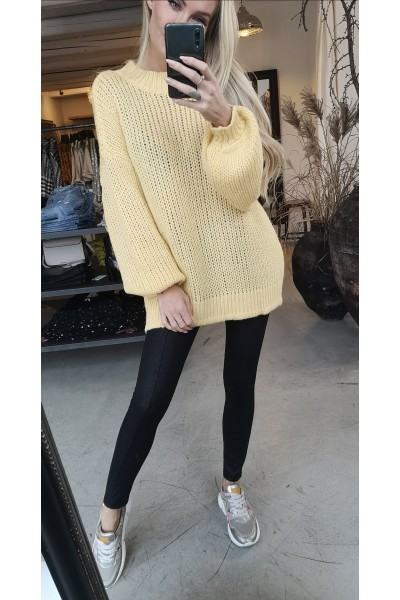 Object - Objvanessa Oversize Knit Pullover - Yellow