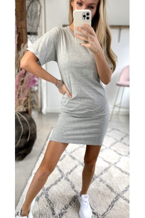 Line Basic Dress - Grey