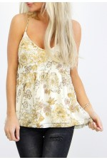Gry Flower Top - Beige