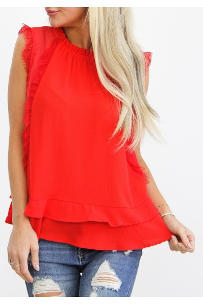 Eldora Fine Top - Red