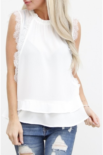 Eldora Fine Top - White