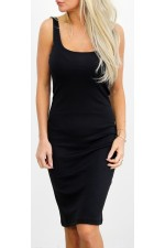 Simpel Basic Dress - Black